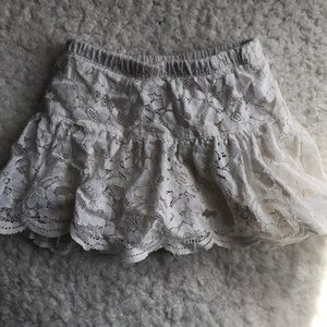 Carter's White lace skirt size 18 months